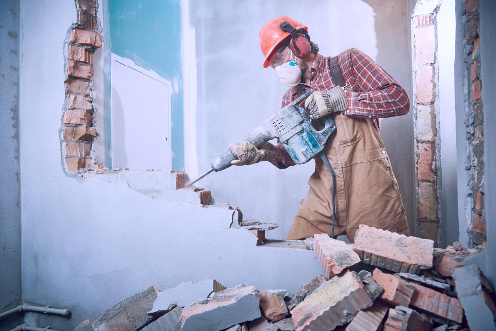 Abattage d'un mur
